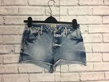 River Island Acid Wash Denim Short Hot Pants size 10 Women's summer Kylie