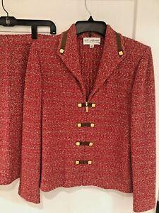 BEAUTIFUL St John collection knit Jacket and Skirt size 10