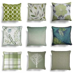 "Green Cushion Covers Lime Mint Luxury Throw Cushions Cover 17"" x 17""/18"" x 18"""