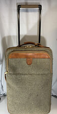 Hartmann Tweed Belting Leather Roller Carry On Bag Luggage Tag