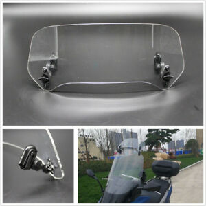 Motorcycle ATV Adjustable Clip Windshield Extension Spoiler Wind Protection Kit
