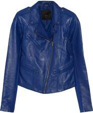 NWOT 'VEDA' Stunning Bright Blue Leather Jacket!! Size M.