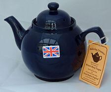 """Cobalt Blue """"Brown Betty"""" Teapot, 2/3 cup U.K. Made by Adderley Ceramics Tea Pot"""