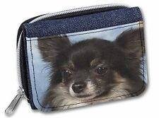 Black Chihuahua Dog Girls/Ladies Denim Purse Wallet Christmas Gift Ide, AD-CH3JW