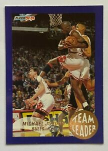 1992-93 Fleer Team Leader MICHAEL JORDAN, Rack Packs, #4, HOF, Chicago Bulls