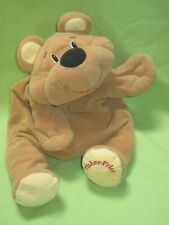 Vintage 1993 Fisher Price Rumples Bear Tan Brown Happy Floppy Plush Toy #6811
