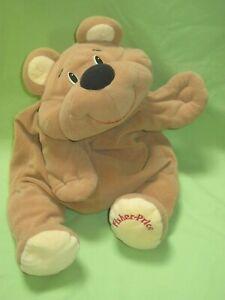 VINTAGE 1993 Fisher Price RUMPLES BEAR Tan Brown HAPPY Floppy Plush Toy #6811