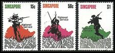 Singapore stamp - 1970 National Service set 3v MNH soldiers and map