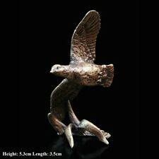 Flying Partridge Solid Bronze Foundry Cast Sculpture Butler And Peach [2055]