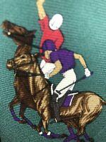 Polo Ralph Lauren Mens Silk Designer Multicolor Polo Horse Necktie Tie EUC