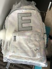NWT NEW Justice Kid Girls Unicorn Backpack Lunch Box Set Letter E