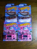 Hot Wheels 2021 Lot Of (4)- Star Wars X34 Landspeeder-Barbie Dream Camper