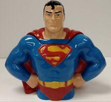 Dc Clay Art Superman Cookie Jar Hand Painted 1997