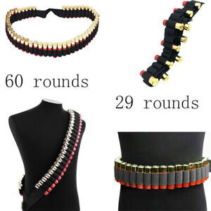 Shotgun Shell Bandolier Durable Nylon Belts 29/60 Rounds Suitable 12G Practical