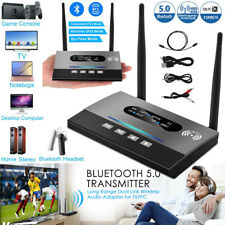 2 in1 Bluetooth 5.0 Wireless Audio Transmitter and Receiver 3.5mm AUX Adapter US