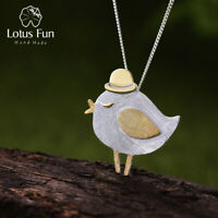 Exquisite 18K Gold Bird Pendant for Women Solid 925 Sterling Silver Fine Jewelry