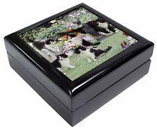 Cats and Kittens in Garden Keepsake/Jewellery Box Christmas Gift, AC-65JB