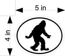 Bigfoot/Sasquatch black & white car & truck vehicle decals/stickers