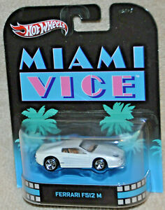 Hot wheels Retro Entertainment MIAMI VICE FERRARI F512 M White