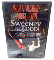 2G DVD SWEENEY TOOD Musical Thriller Lansbury Hearn Broadway Performance