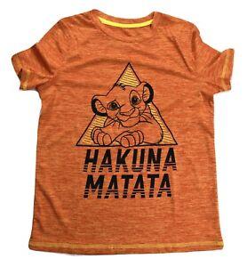 Jumping Beans Boys Disney Lion King Simba Hakuna Matata Tee Shirt New 4-12