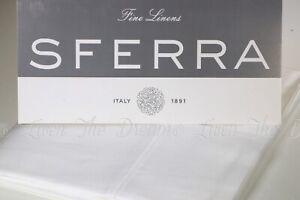 NEW Sferra MATTEO Long Staple Cotton Silky Sateen Standard White Pillowcases