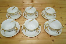 """Meito Midas White (6) Cups, 2 1/4"""" & (6) Saucers, 5 3/4"""""""