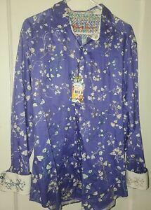 Robert Graham Shirt Villa Clara Embroidered New Classic Fit LS XX-Large 2XL