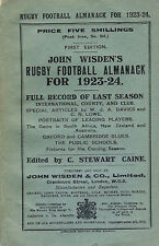JOHN WISDEN'S RUGBY ( NOT CRICKET ) ALMANACK 1923/4 1st issue ***RARE***