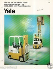 Fork Lift Truck Brochure - Yale - 2-3000 lb Gas Cushion Pneumatic - c1973 (Lt20)