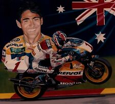Michael Doohan 52 x 50 cms limited edition Moto GP art print by Colin Carter