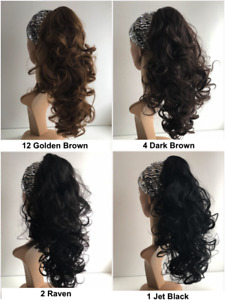 """25% OFF KOKO THICK 16-18"""" CURLY CLIP ON PONYTAIL, CLIP ON CURLY PONYTAIL"""