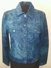Guide Gear Women's Genuine Leather Jacket Coat Blue Size Medium M