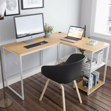 Bestier L Shaped Computer Desk Writing Pc Laptop Table Workstation Home Office