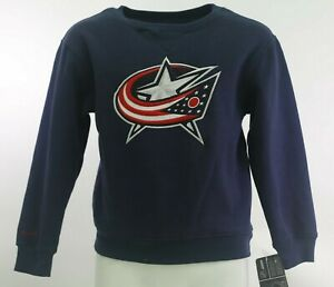 Columbus Blue Jackets Official NHL Reebok Youth Kids Size Sweatshirt New Tag