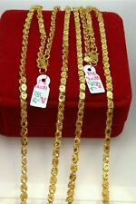 GoldNMore: 21K Gold Necklace Chain A15.6G 22 inches chain