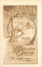 GEORGE WASHINGTON FORT DUQUENSE AMERICAN REVOLUTION PATRIOTIC POSTCARD 1911