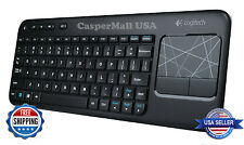 Logitech K400 Wireless Touch Keyboard With Built-in Multi-Touch TouchPad Black