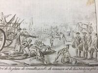 Senlis en 1791 Plaine de Grenelle Paris Gonesse Révolution Française Gravure