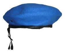 Military Berets Sky Blue Beret Royal Blue Adjustable Cord Stock Mark697 Size 58
