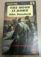THE MOON IS DOWN. John Steinbeck. Pan Paperback. 1958. Vintage Book