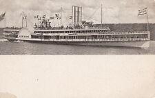 """HUDSON RIVER DAY LINE STEAMER """"NEW YORK"""" ~ c. - 1900"""