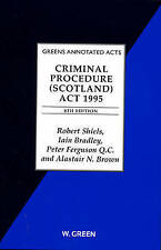 Shiels Criminal Procedure (Scotland) Act 1995
