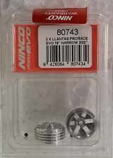 Ninco 80743 Prorace Evo 2 Aluminum Wheels 18Mm 3/32 2.38Mm 1/32 Slot Car Parts