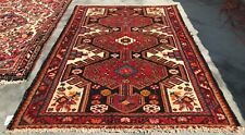 Authentic Hand Knotted Vintage Hamidoun Wool Area Rug 4.9 x 3.5 Ft (9743 Bn)