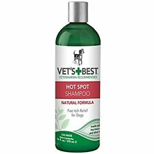 Vet's Best Natural Hot Spot Dog Shampoo for Itchy, Dry, and Irritated Skin 16 Oz