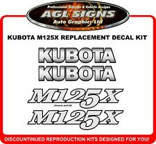 KUBOTA  M125X  Replacement Decal Set ,  Reproductions  also M108X