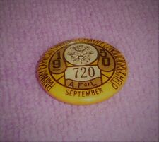 Vintage 1950 AFL Union Pin Railway Express Drivers Chauffeurs Conductors  720