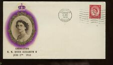 Gb Qe Coronation First Day Cover 1953 Uckfield Unaddressed