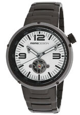 MOMO DESIGN MD1011BS-20BK EVO AUTOMATIC WATCH WHITE DIAL STAINLESS STEEL BRACLET